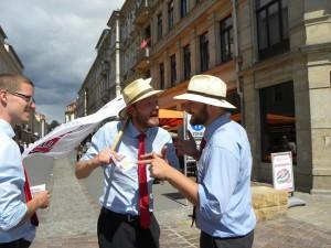 Direktkandidaten Martin Hoferick und Robin Hohmann