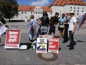Foto mit Wählern und so