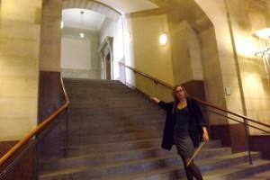 Immerhin - die Treppenhäuser sind ganz ordentlich und geeignet, Bürgerbegehrlichkeiten beim Hochsteigen kleiner werden zu lassen