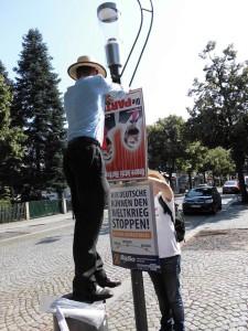 In Coswig- Radebeul wird nicht auffallen, dass das Plakat falsch herum hängt