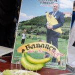 Bananen aus der Region (Plakat mit Schirmherr Thomas Schmidt sächs. Landwirtschaftsminister)